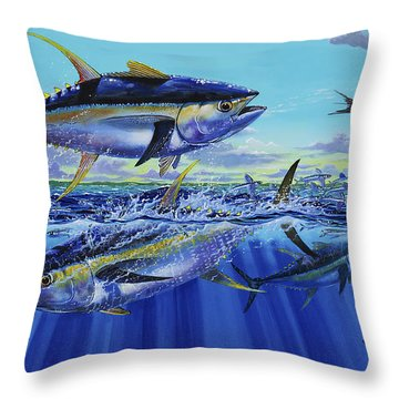 Yellowfin Bust Off0083 Throw Pillow by Carey Chen