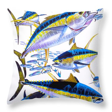 Yellowfin Run Throw Pillow by Carey Chen