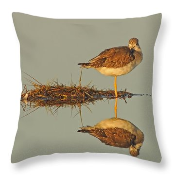 Yellowlegs Sandpiper Throw Pillow