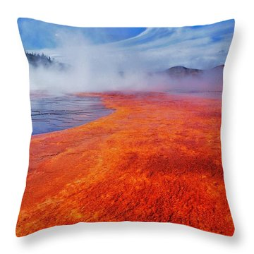 Yellowstone Basin Throw Pillow by Benjamin Yeager
