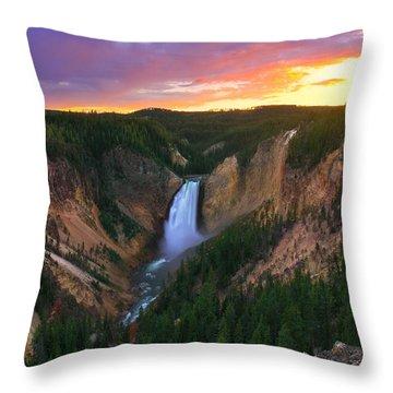 Throw Pillow featuring the photograph Yellowstone Beauty by Kadek Susanto