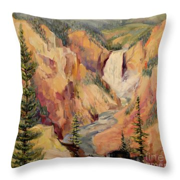 Yellowstone Canyon 1930 Throw Pillow