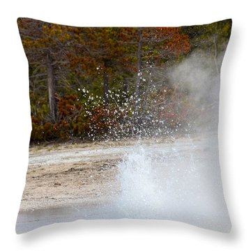 Yellowstone Geyser Throw Pillow