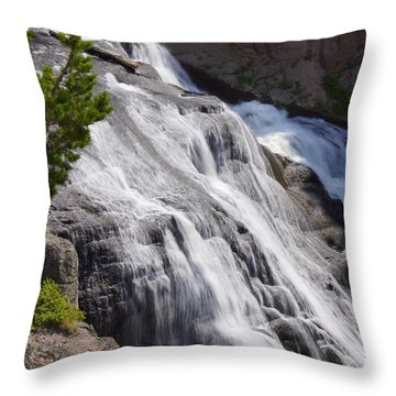 Yellowstone Gibbon Falls Throw Pillow