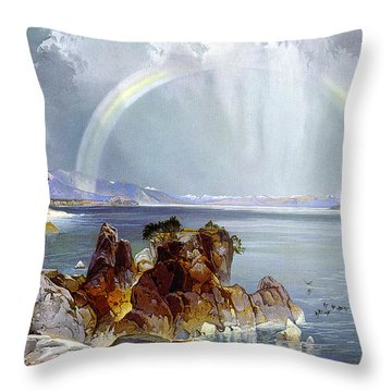 Yellowstone Lake 1875 Throw Pillow by Unknown