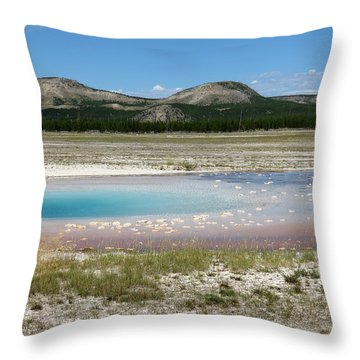 Throw Pillow featuring the photograph Yellowstone Landscape by Laurel Powell