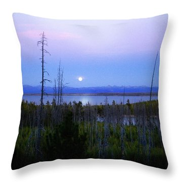 Yellowstone Moon Throw Pillow