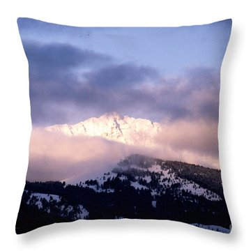 Throw Pillow featuring the photograph Yellowstone Morning by Sharon Elliott