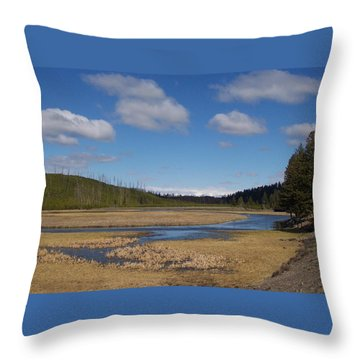 Yellowstone Park 2 Throw Pillow by Kenneth Cole