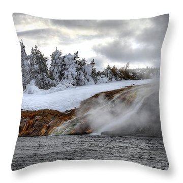 Yellowstone's Fire And Ice Throw Pillow