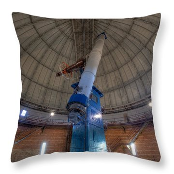 Yerkes Observatory Telescope Throw Pillow