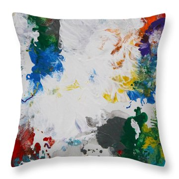 Yes Abstract Throw Pillow