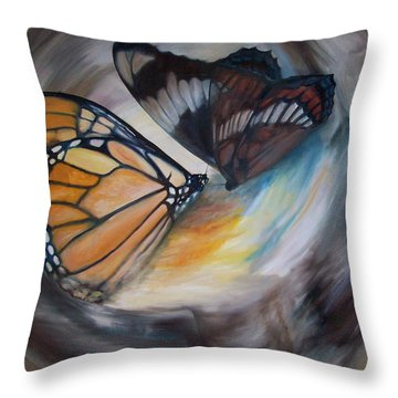 Yesterday's Butterflies Throw Pillow