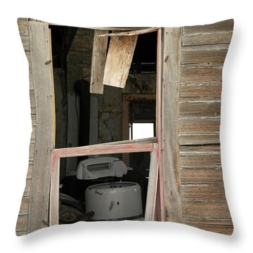Yesterdays Laundry Throw Pillow by Jeff Swan