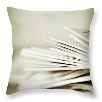 Throw Pillow featuring the photograph Yesterday's News by Trish Mistric