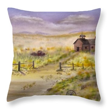 Yesterday's Schooldays  Throw Pillow