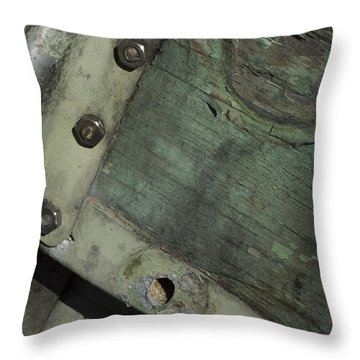 Throw Pillow featuring the photograph Yesterday's Seafoam by Rebecca Sherman