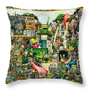 Yesterday's Treasure Throw Pillow