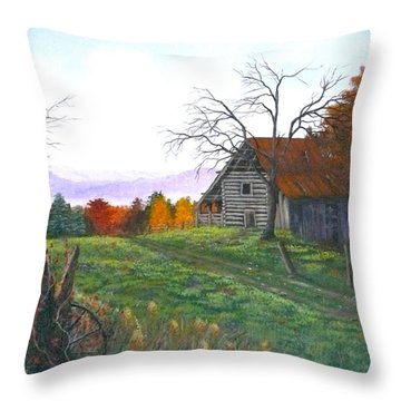 Yesteryear Autumn Throw Pillow