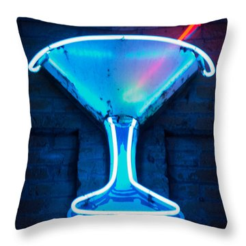 Yet Another Cocktail Glass Throw Pillow by Matthew Bamberg