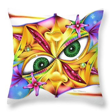Yeux D'intervalle Throw Pillow