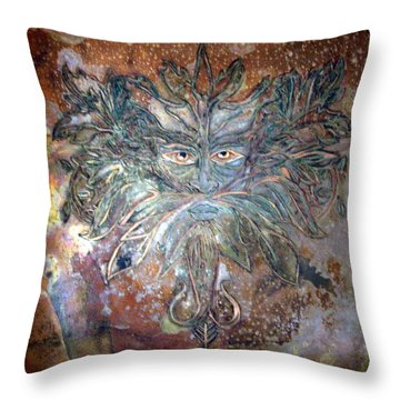 Yggdrasil Rune Greenman Throw Pillow