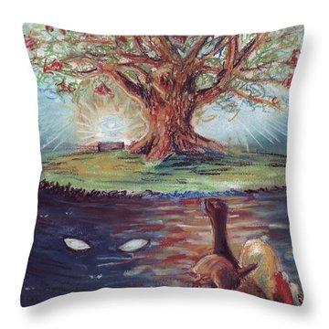 Yggdrasil - The Last Refuge Throw Pillow by Samantha Geernaert
