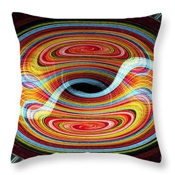 Yin And Yang - Abstract Throw Pillow