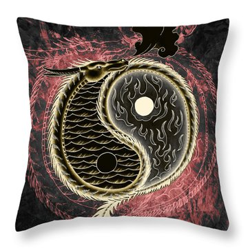 Yin And Yang Graphic Throw Pillow