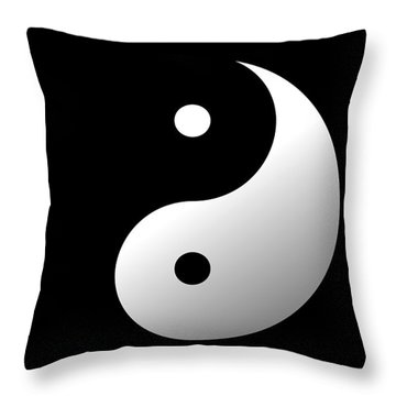 Yin And Yang Throw Pillow by Roz Abellera Art