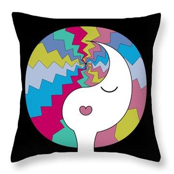 Yin Yang Crown 10 Throw Pillow