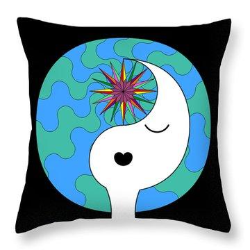 Yin Yang Crown 4 Throw Pillow