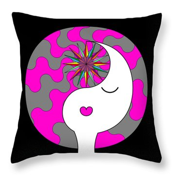 Yin Yang Crown 6 Throw Pillow