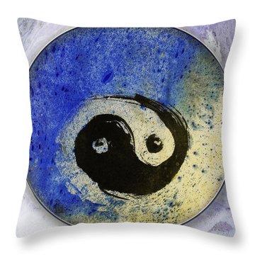 Yin Yang Painting Throw Pillow