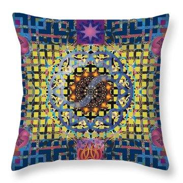 Yin Yang Star Throw Pillow