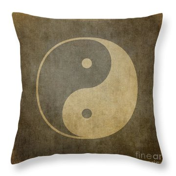 Yin Yang Vintage Throw Pillow