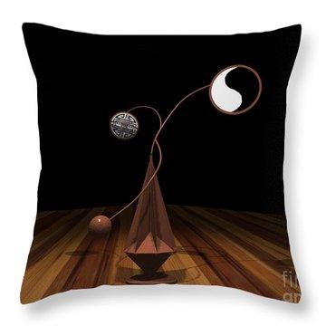 Ying And Yang Throw Pillow by Peter Piatt