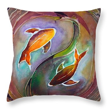 Ying Yang Throw Pillow by Pat Purdy