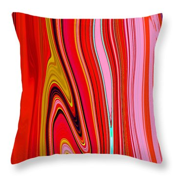 Throw Pillow featuring the painting Yipes Stripes  C2014 by Paul Ashby