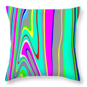 Throw Pillow featuring the painting Yipes Stripes II  C2014 by Paul Ashby