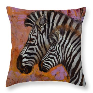 Yipes Stripes Throw Pillow