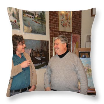 Ylli's Art Show In Brian Gallery Throw Pillow by Ylli Haruni