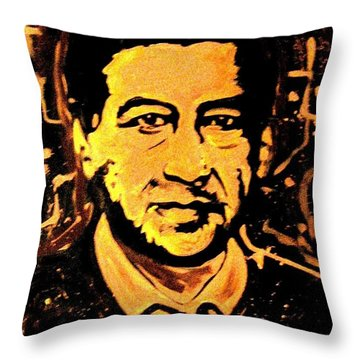 Throw Pillow featuring the painting Yo Soy Arizona by Michelle Dallocchio
