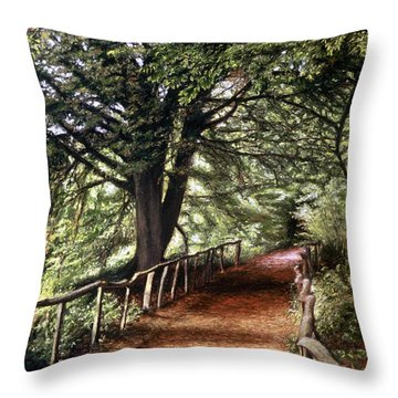Yockletts Bank Throw Pillow