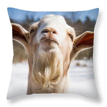 'yoda' Goat Throw Pillow