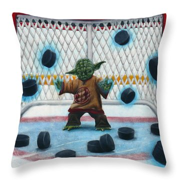 Yoda Saves Everything Throw Pillow