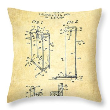 Yoga Exercising Apparatus Patent From 1968 - Vintage Throw Pillow