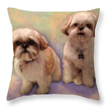 Yogi And Boo Boo Throw Pillow