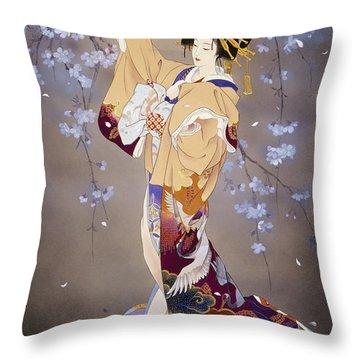 Yoi Throw Pillow by Haruyo Morita