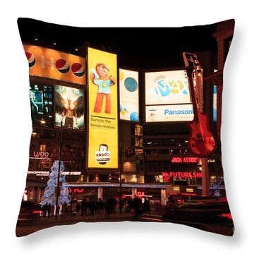 Yonge-dundas Square At Night Throw Pillow
